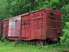 Free Old Abandoned Train Boxcar Stock Photos - 25379833