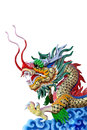 Free Golden Dragon Statue Stock Image - 25383141