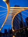 Free Pubic Skywalk At Bangkok Downtown Square At Night Stock Images - 25386014