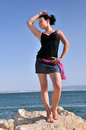 Free Dancing Girl On The Rocks Royalty Free Stock Photos - 25388408