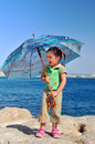 Free Little Girl With Umbrella Stock Image - 25388711