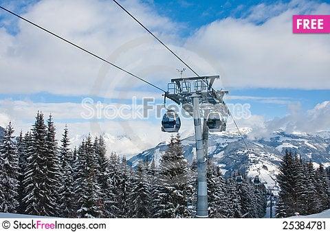 Free Ski Resort Zell Am See, Austria Stock Image - 25384781