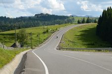 Free Mountain  Highway Royalty Free Stock Photos - 25384638
