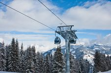 Free Ski Resort Zell Am See, Austria Stock Image - 25384781