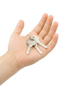 Free Keys In Hand Isolated Royalty Free Stock Image - 25385856