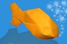 Free Origami Fish Stock Image - 25386011