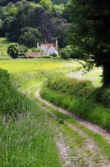 Free English Rural Landscape With  Farm Track Royalty Free Stock Images - 25386309