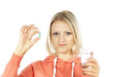Free Beautiful Girl With Medication Stock Images - 25386784