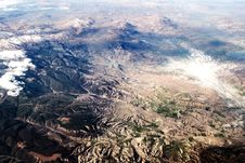 Free View Of The Mountains From The Plane Stock Photo - 25387370