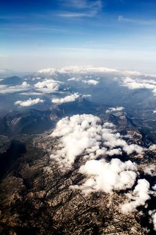 Free View Of The Mountains From The Plane Stock Images - 25387374