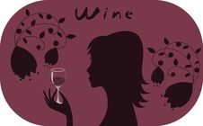 Free Woman With Glass Of Wine. Stock Photography - 25387962