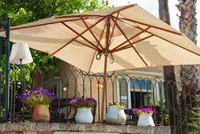 Mediterranean Style Cafe Restaurant Royalty Free Stock Photo