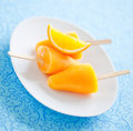 Free Orange Ice Lollies Stock Photos - 25390493