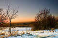 Free Sunset And Snow At Ashton Under Lyne Royalty Free Stock Images - 25396859
