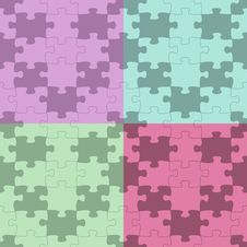 Seamless Vector Puzzle Pattern Stock Photos