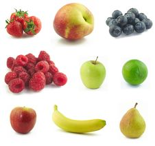 Free Fruits Collage Stock Photography - 25394132