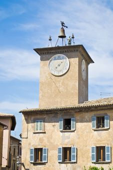 Free Clock Tower Of Orvieto Stock Photos - 25394583