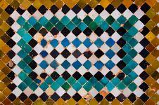 Ceramic Tiles Of Alhambra Stock Photos