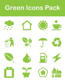 Free Green Icons Pack Royalty Free Stock Images - 25396679