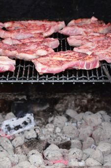 Free Meat On The BBQ Stock Photography - 25397172