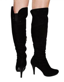 Free Female Boots Of Black Colour Royalty Free Stock Photo - 25398875