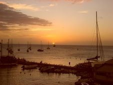 Free Sunset In Martinique Stock Photo - 2540460