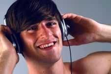 Free Young Man With Headphones 2 Stock Image - 2541051