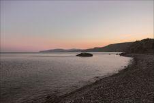 Seashore At The Dawn Stock Photography
