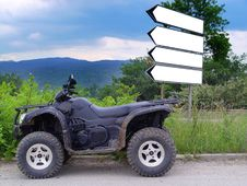 Free Buggy And Signboards Stock Photography - 2541192