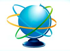 Free Blue Globus Stock Photo - 2541350