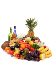 Free Fruit, Vegetables Oil And Wine Royalty Free Stock Images - 2543139