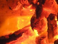 Free Burning Coals Stock Images - 2544634