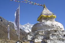 Free Stupa And 8000er Lothse, Nepal Stock Photos - 2545423
