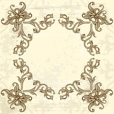 Free Vintage Flowers Frame Royalty Free Stock Photography - 2546017
