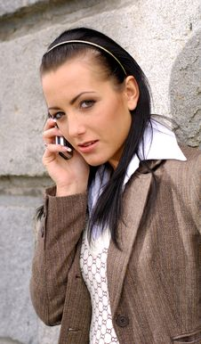 Free Young Woman With Mobile Phone Stock Images - 2546074