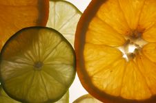 Slices Of Orange And Lime