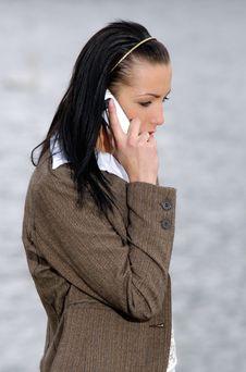 Free Woman Talking Through Mobile Stock Images - 2546314
