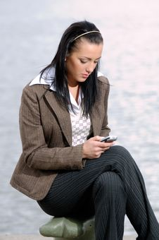 Free Young Girl With Cell Phone Stock Images - 2546414