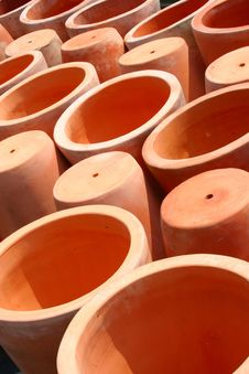 Terra-cotta Pots Royalty Free Stock Photography