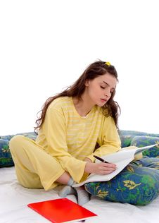 Free Writing In Bed Stock Photos - 2547883
