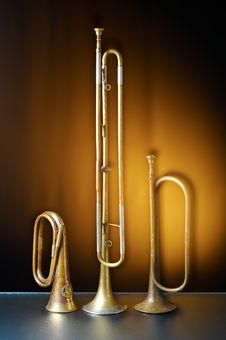 Free Detail Of An Old Trumpet Royalty Free Stock Image - 2548256