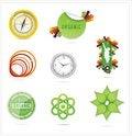 Free Nature Creative Ecology Symbols Set Royalty Free Stock Image - 25405696