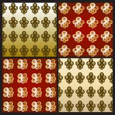 Free Set Of Simple Wallpapers With A Decorative Pattern Royalty Free Stock Photo - 25401155