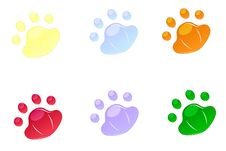 Free Backgrounds For Icons In Pad Shape Stock Photo - 25404910