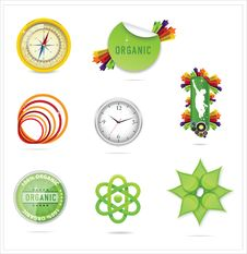 Free Nature Creative Ecology Symbols Set Royalty Free Stock Image - 25405696