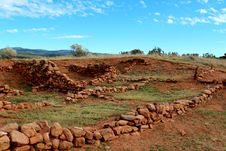 Pecos Ruin Walls Stock Image