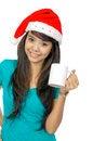 Free Santa Woman Drinking Stock Images - 25411454