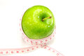 Free Green Apple With Measurement Stock Photos - 25418053
