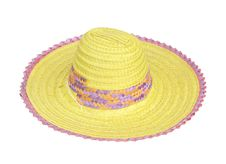 Free Straw Hat Royalty Free Stock Photography - 25410197