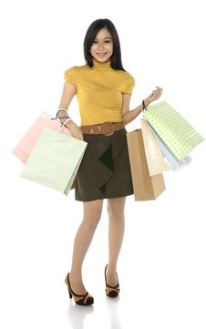 Free Asian Shopping Woman Stock Photography - 25411292